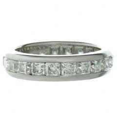 Tiffany & Co. Lucida Diamond Platinum Band Ring