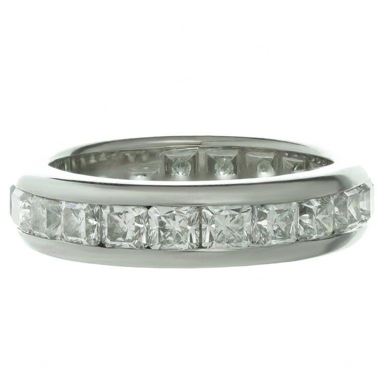 Lucida Bands: Tiffany And Co. Lucida Diamond Platinum Band Ring For Sale