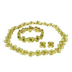 Tiffany & Co. Classic Dogwood Blossom Necklace Bracelet Earrings Set
