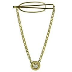 Tiffany & Co. Diamond Yellow Gold Men's Tie Pin