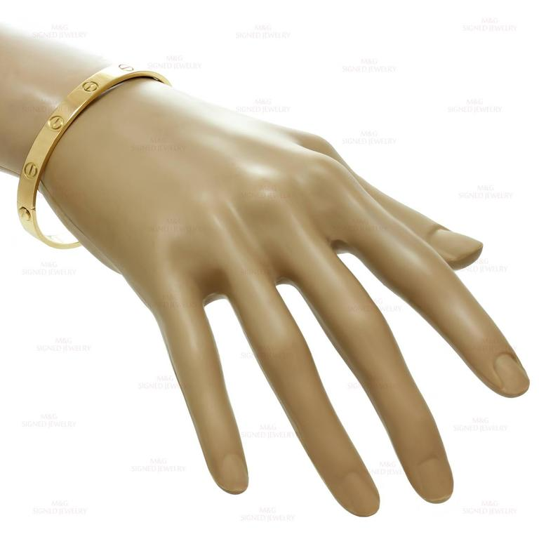 Cartier Love Gold Bangle Bracelet In Excellent Condition For Sale In New York, NY