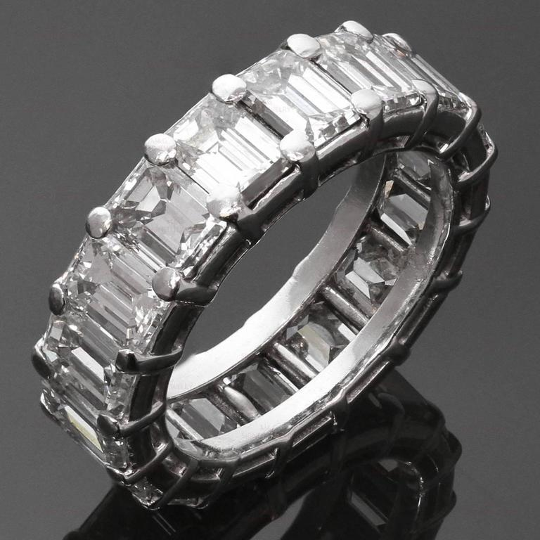 This Exquisite Eternity Band By Graff Is Crafted In Fine Platinum And Set With Emerald