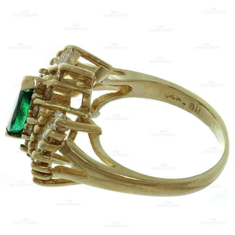 marquise emerald gold ring for sale at 1stdibs