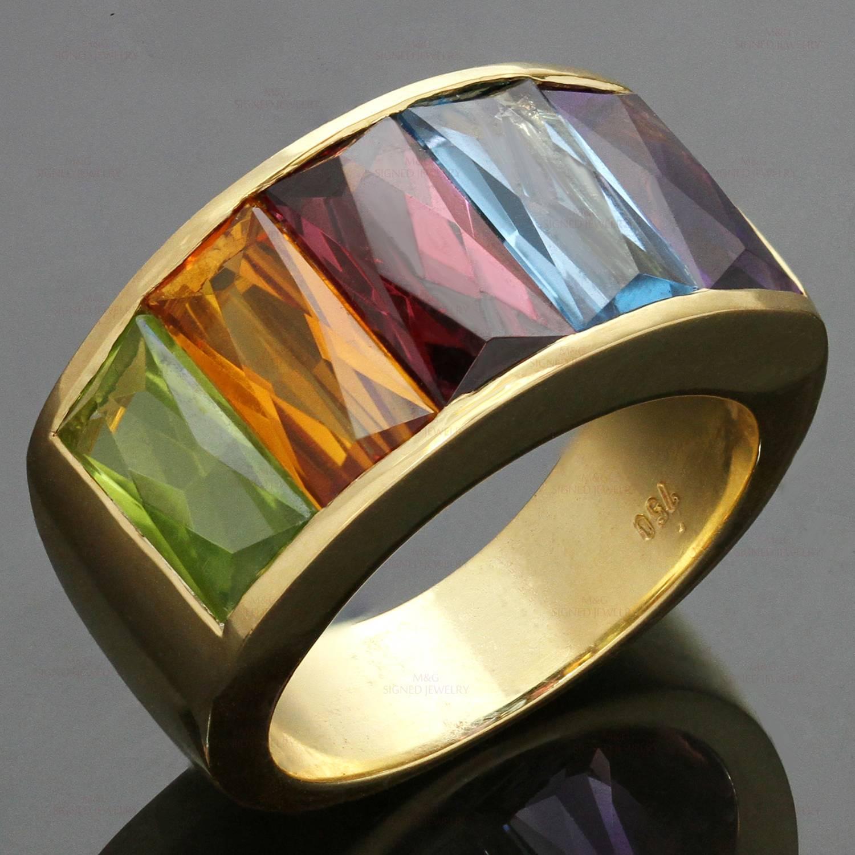 1980s H Stern Multicolor Gemstone Rainbow Yellow Gold