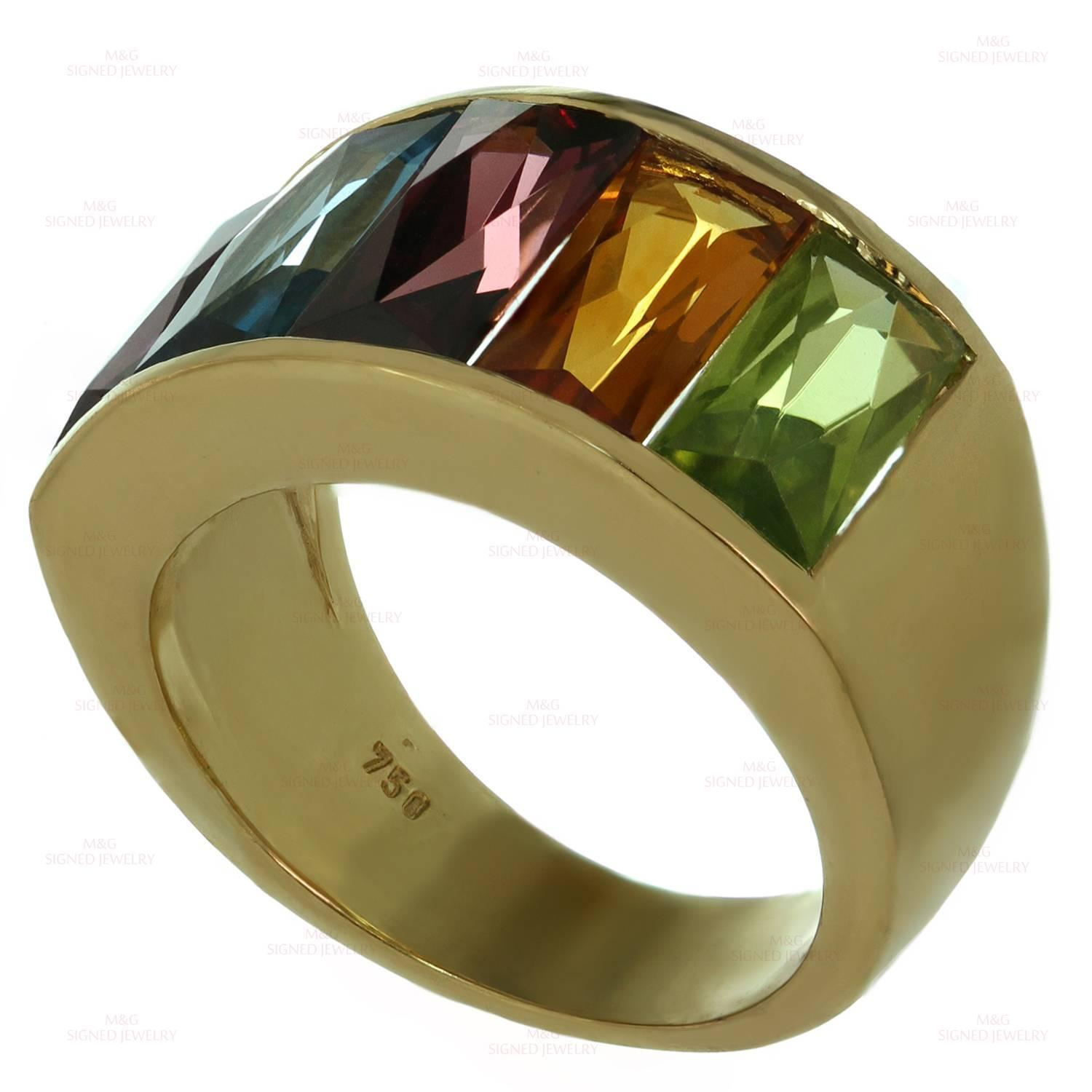 square with angled green citrine gem ring product rings gemstone
