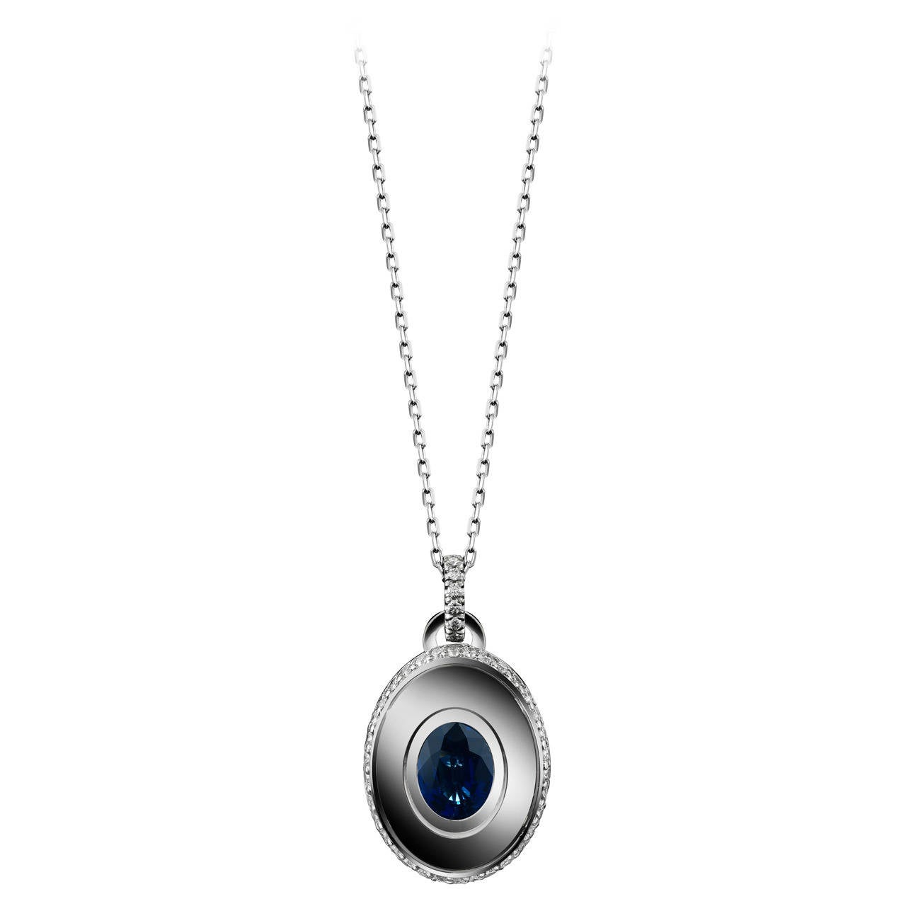 Alexandra Mor Sapphire and Diamond September Birthstone Pendant