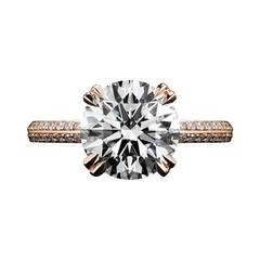 Brilliant-Cut Diamond Gold Engagement Ring