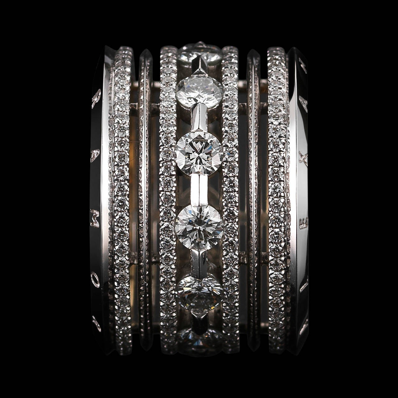 Alexandra Mor Wide Brilliant-Cut Diamond Platinum Eternity Band Ring 3