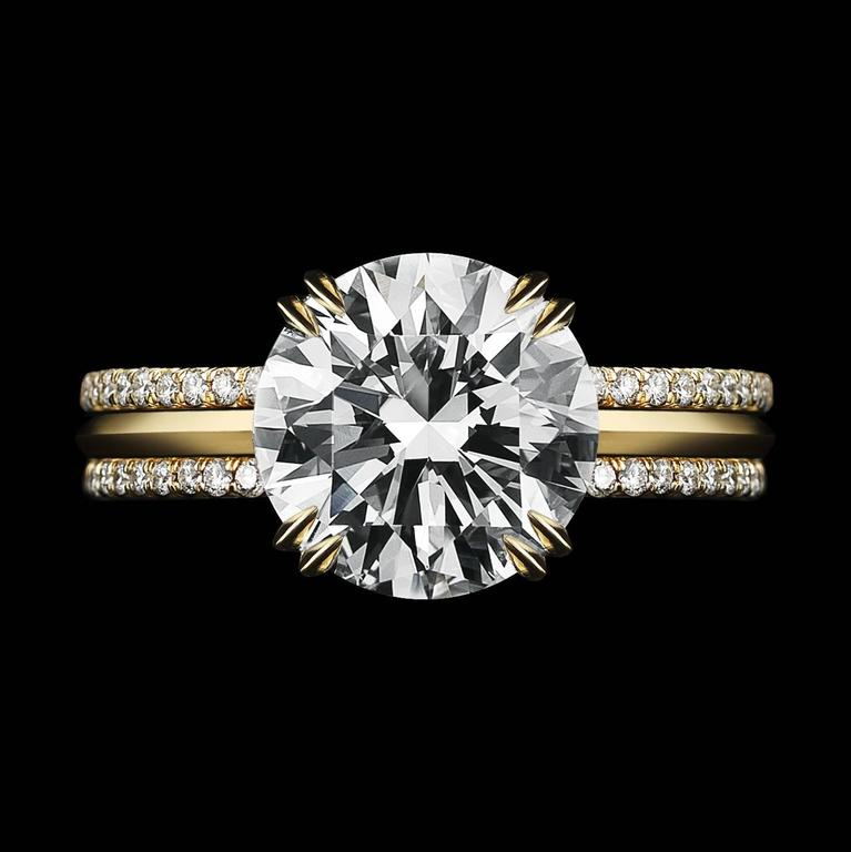 Alexandra Mor 1.50 Carat GIA Certified Diamond Centre Engagement Three-Ring Set In New Condition For Sale In New York, NY