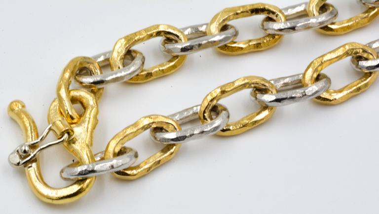 Jean Mahie Two-Tone Small Cadene Chain Bracelet 2