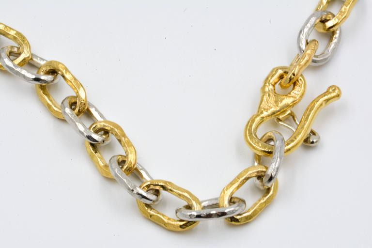 Modern Jean Mahie Two-Tone Small Cadene Chain Bracelet For Sale