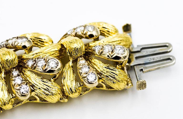 David Webb Diamond Gold Bracelet 4