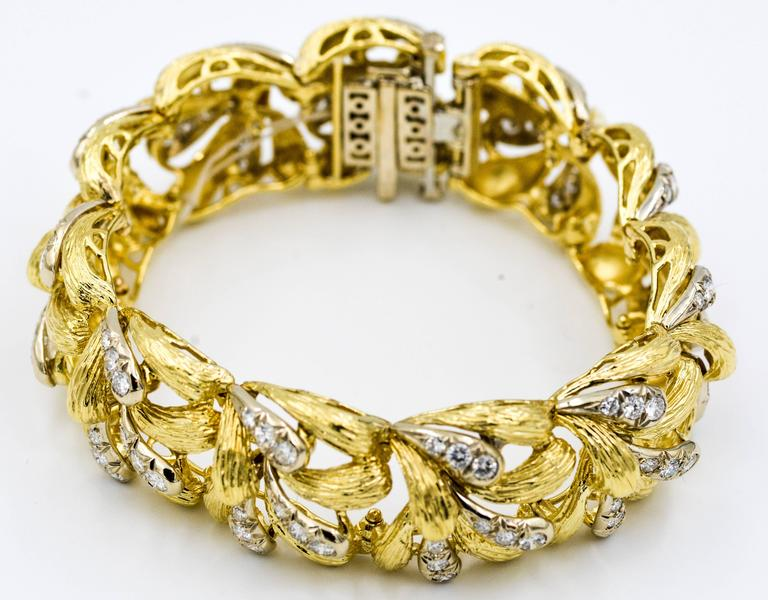 David Webb Diamond Gold Bracelet 6