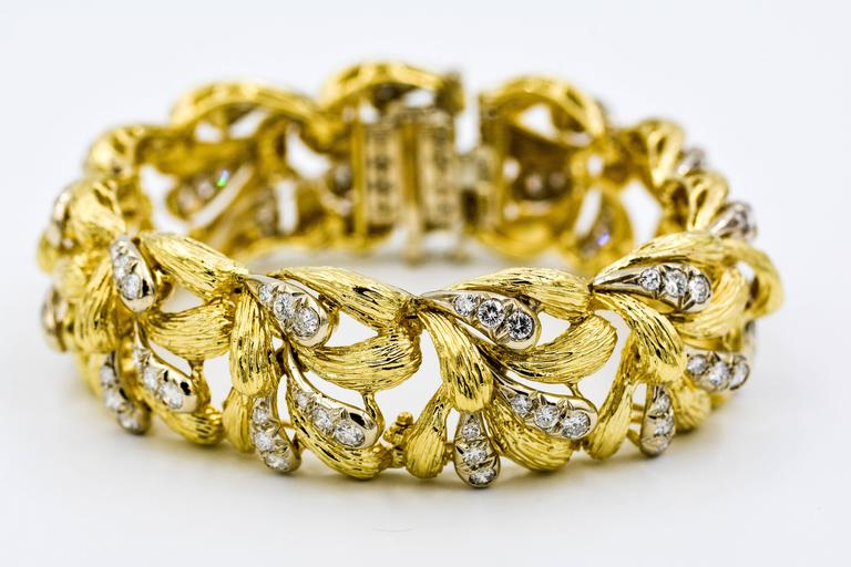 David Webb Diamond Gold Bracelet 7