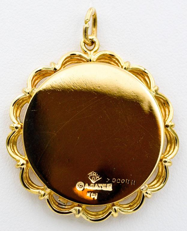 14 Karat Yellow/White Gold 25th Anniversary 'Silverware' Charm In Excellent Condition For Sale In Dallas, TX