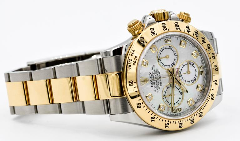 Rolex Yellow Gold Stainless Steel Daytona Mechanical Wristwatch  For Sale 4