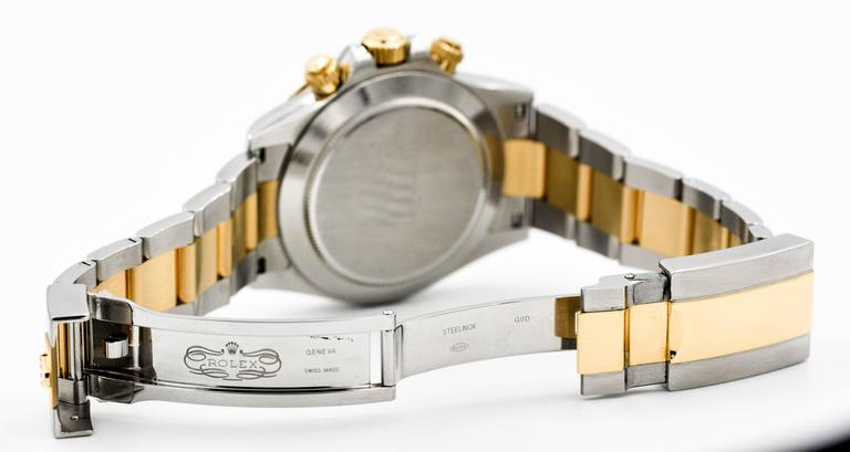 Rolex Yellow Gold Stainless Steel Daytona Mechanical Wristwatch  For Sale 1