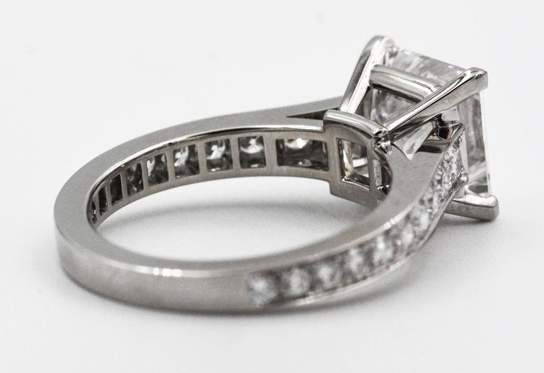 cartier princess cut certified 3 01 carat