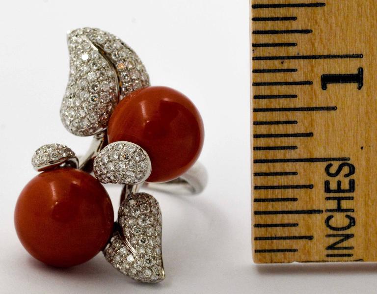 DeSimone Torro Del Coral Diamond White Gold Ring   For Sale 2
