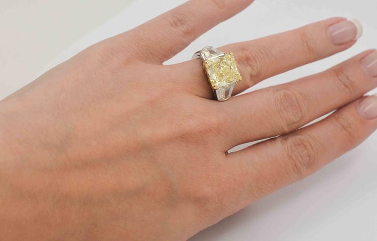 e0354b5f8dbff 8.01 Carat Natural Fancy Yellow Diamond Platinum Engagement Eiseman Jewels  Ring