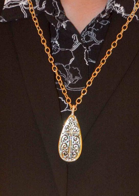 Amethyst Diamond 18 kt Gold Pendant 2