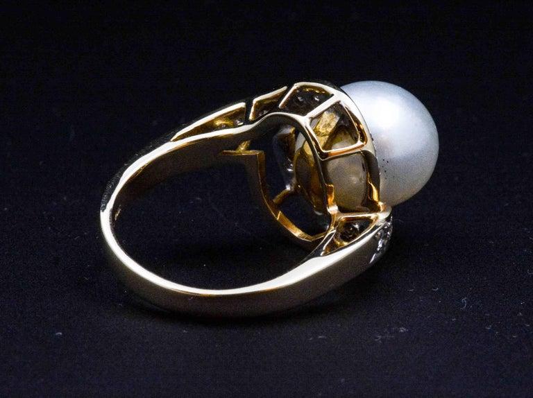 14 karat gold pearl ring at 1stdibs