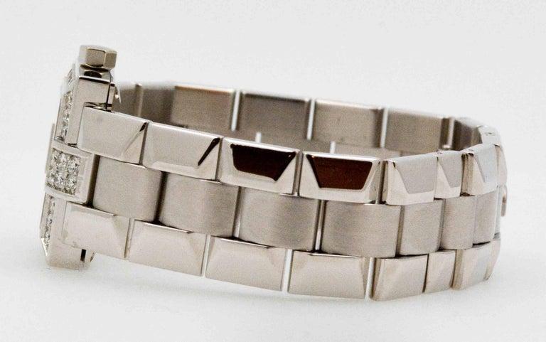 Modern Concord Ladies White Gold Diamond Bezel La Scala Quartz Wristwatch