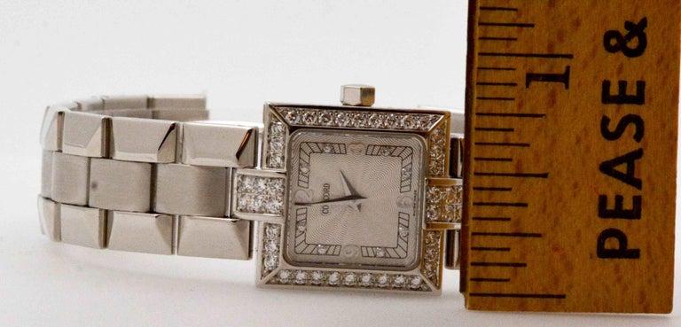 Women's Concord Ladies White Gold Diamond Bezel La Scala Quartz Wristwatch