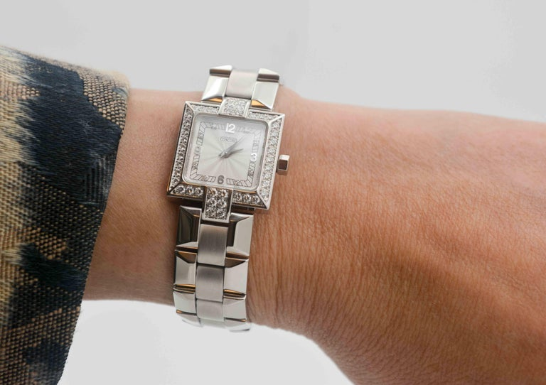 Concord Ladies White Gold Diamond Bezel La Scala Quartz Wristwatch 1