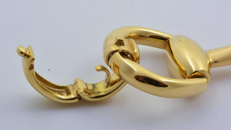 18kt Yellow Gold Is The Star Of This Beautiful Gucci Horse Bit Bracelet Measuring 7 5