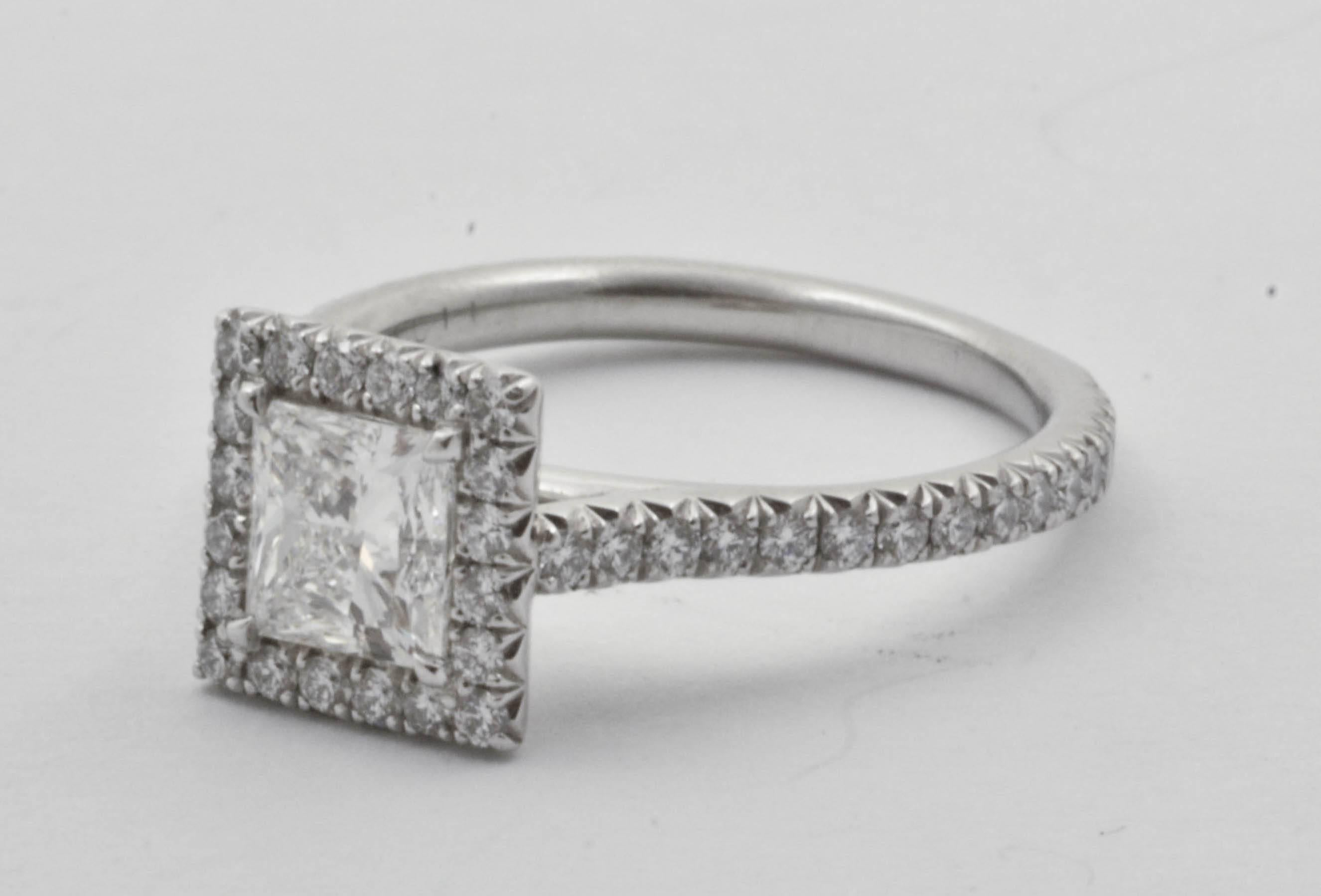 fire center cut mark diamond platinum carat halo ring firemark princess