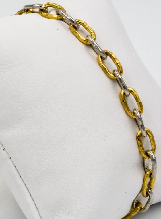 Jean Mahie Two-Tone Small Cadene Chain Bracelet In Excellent Condition For Sale In Dallas, TX