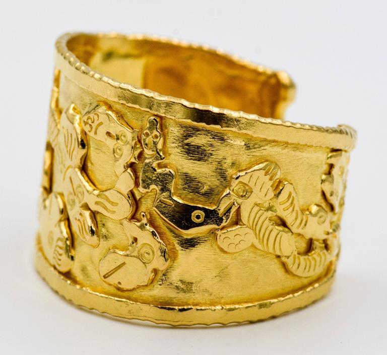 Jean Mahie 22K Gold Charming Monster Cuff Bracelet OYbn4B7s6k