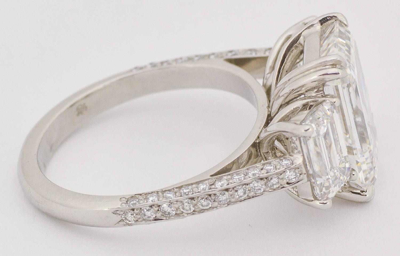 6 83 carat total weight three platinum ring at 1stdibs
