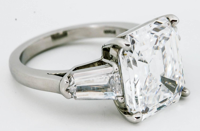 8 02 carat emerald cut platinum engagement ring at