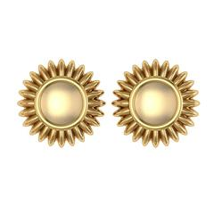 Barbara Nanning and Sparkles Gold Earrings
