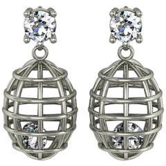 Lidy Peters and Sparkles Diamond and Gold Earrings