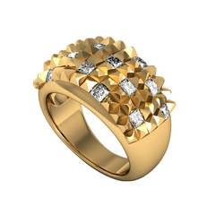 Barbara Nanning & Sparkles Diamond and Gold Ring