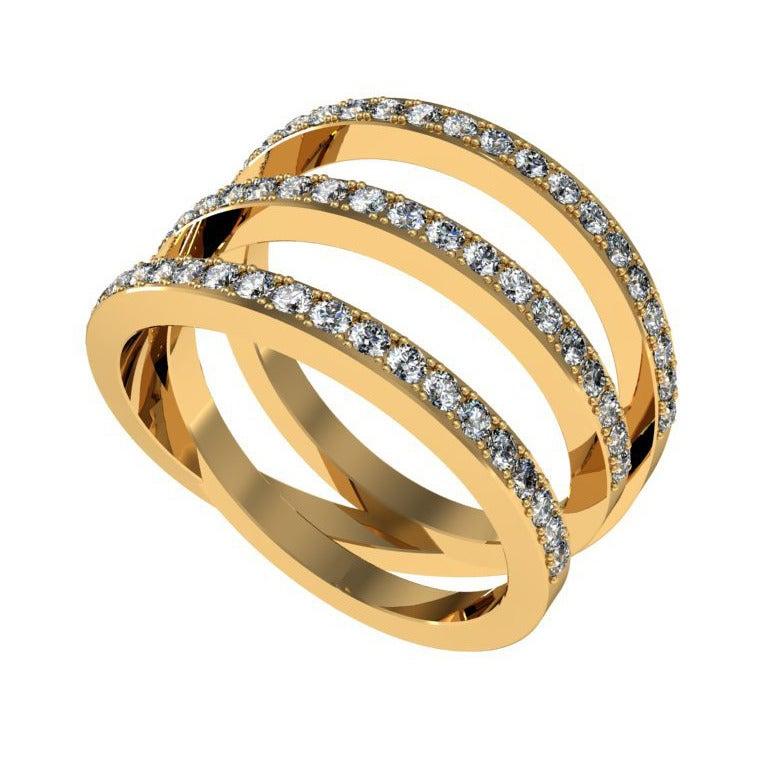 Henk Stallinga & Sparkles Diamond and Gold Ring