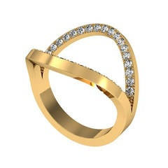 Henk Stallinga & Sparkles Diamond and Gold Ring