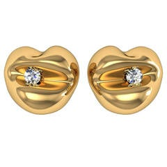 Barbara Nanning & Sparkles Diamond and Gold Earrings