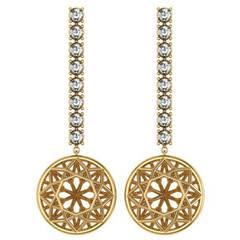 Sayaka Yamamoto & Sparkles Diamond and Gold Earrings