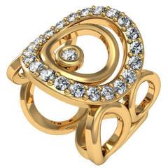 Vasily Baglaenko & Sparkles Diamond and Gold Ring