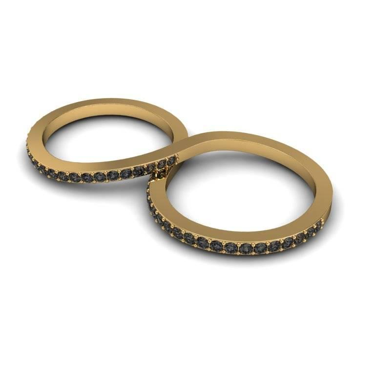 Henk Stallinga and Sparkles Black Diamond and Gold Ring For Sale at 1stdibs