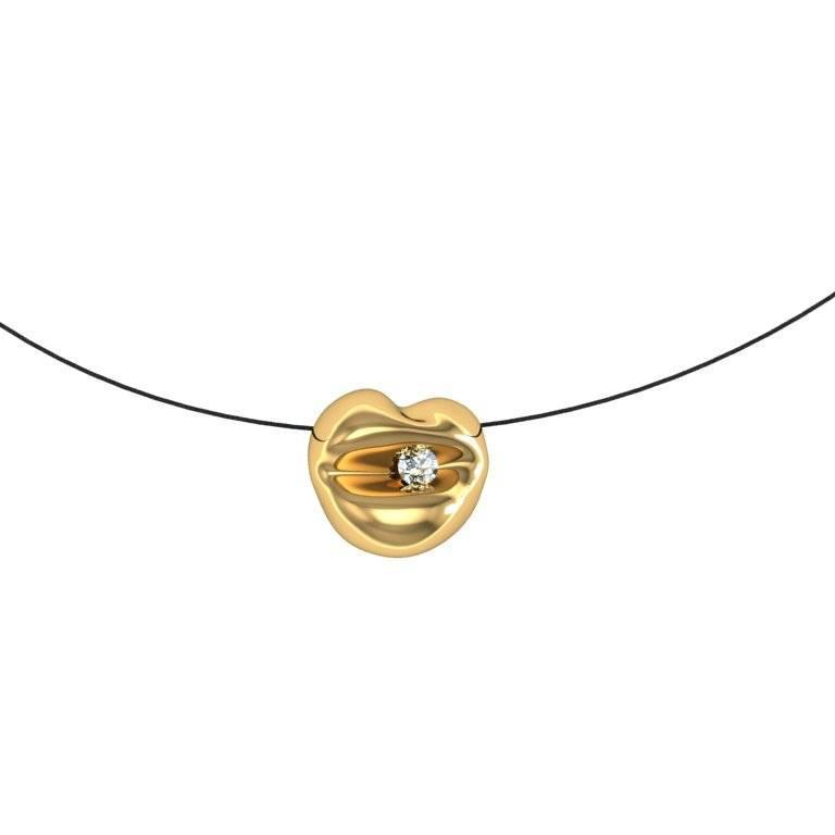 Barbara Nanning and Sparkles Diamond and Gold Pendant