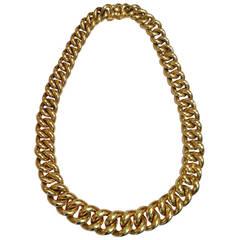 Cartier Paris Heavy Thick Links Gold Necklace