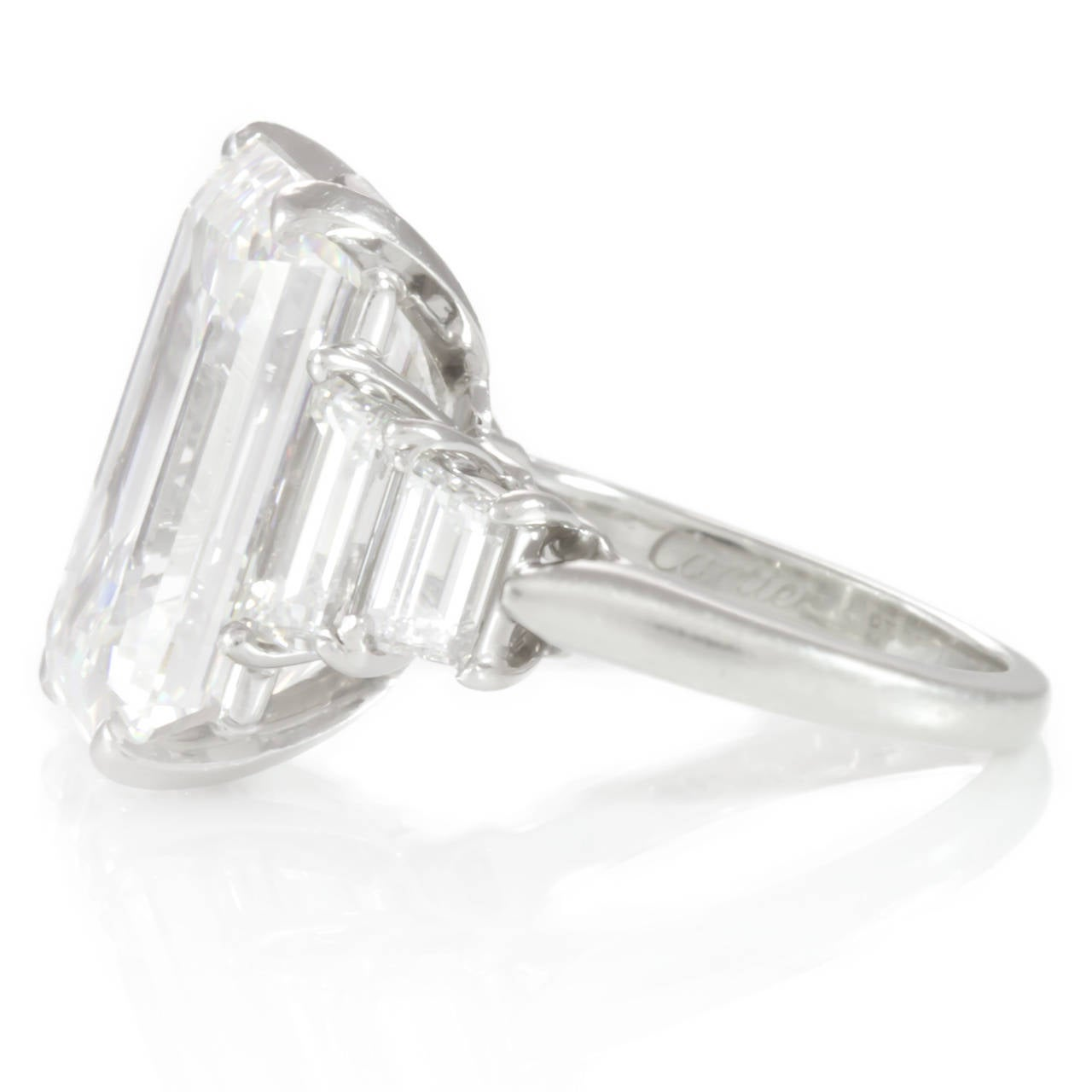 cartier 11 92 emerald cut ring for sale at 1stdibs