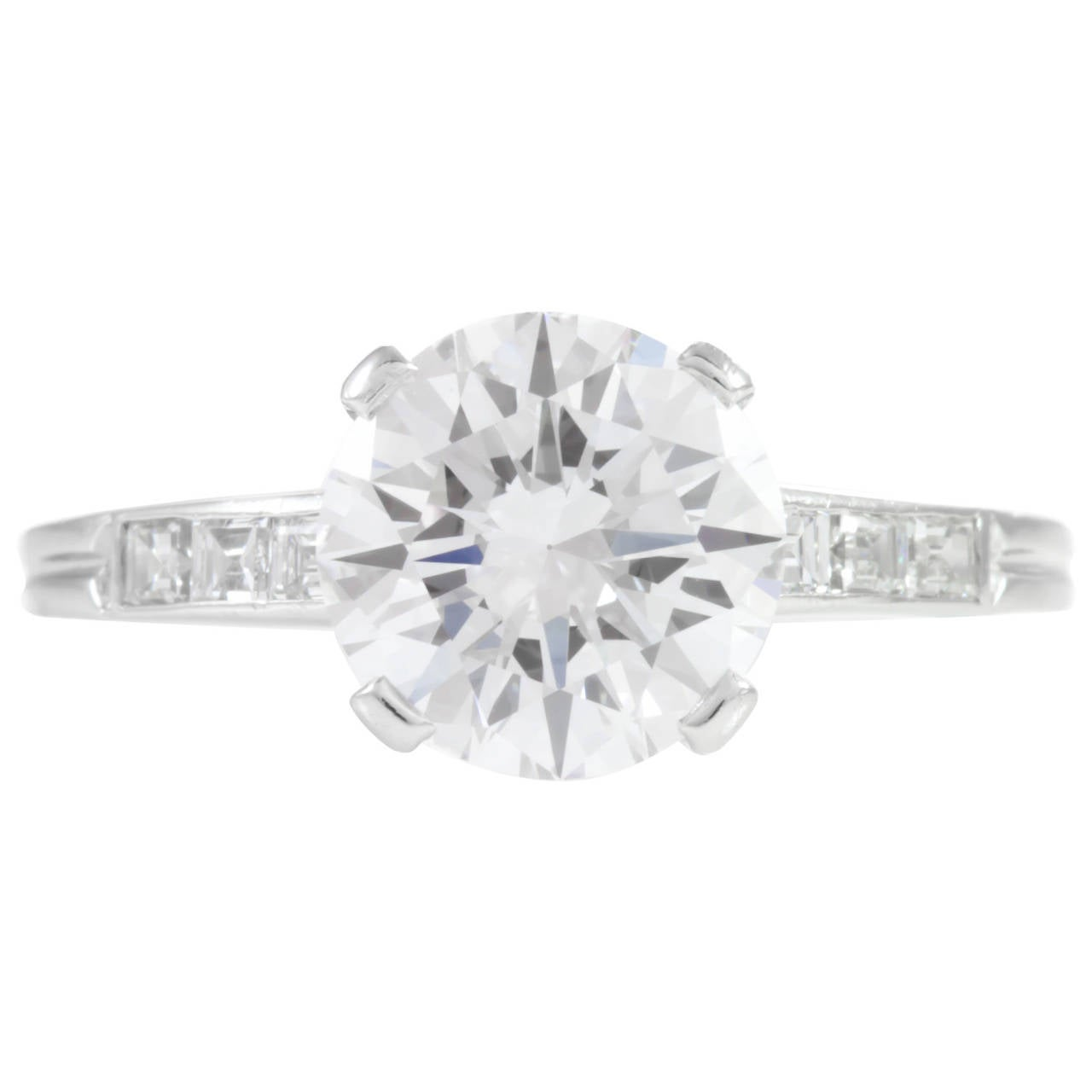 1960 s 2 Carat Tiffany and Co Diamond Engagement Ring at 1stdibs