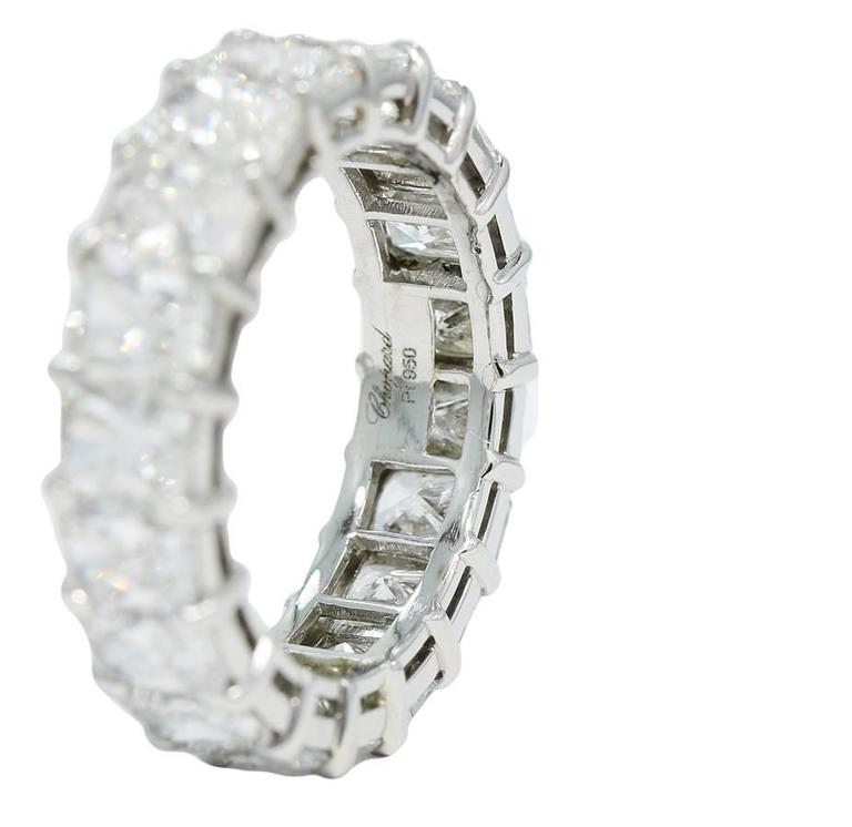 Chopard 7.50 Carats Diamonds Platinum Eternity Band Ring In As New Condition For Sale In Naples, FL