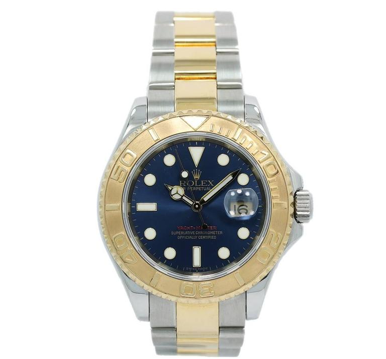 Rolex Yachtmaster Blue Dial 16623 Two Tone 2006 Box and Papers 1